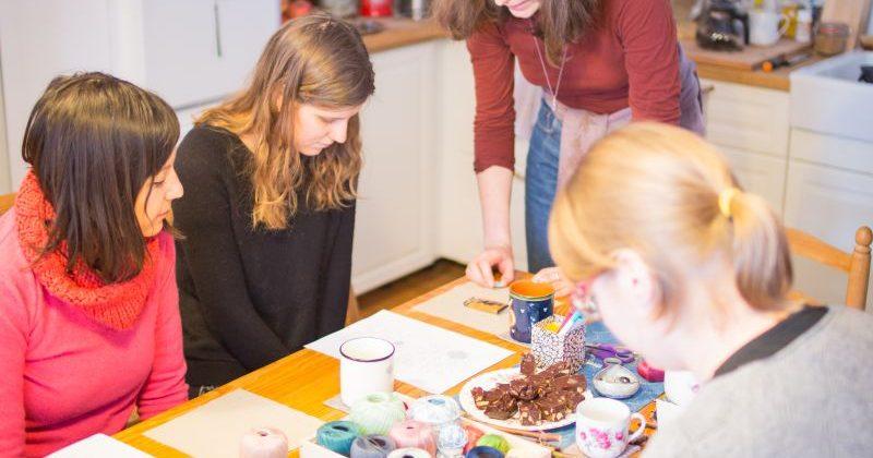 Sashiko & Mindfulness /// Hímzés és tea egy asztal körül – workshop
